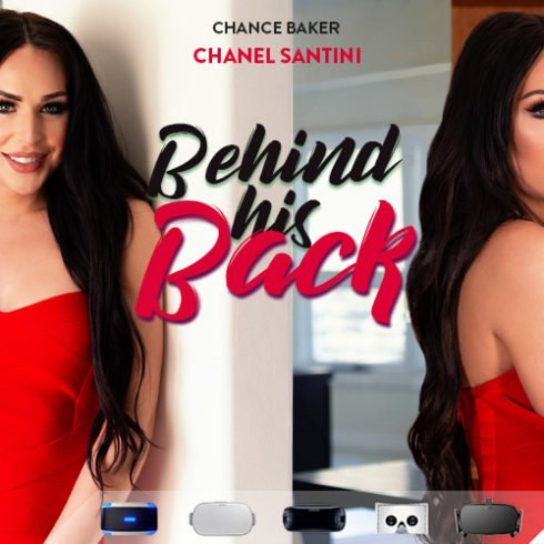 US beauty Chanel Santini behind his back